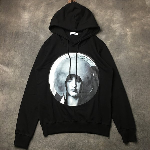 High Quality Luxury New Hip Hop Men Sportswear Hooded Sweatshirts Men's Pullover Hoodies Male Fashion Hoodie Sport Suit Black With Tag