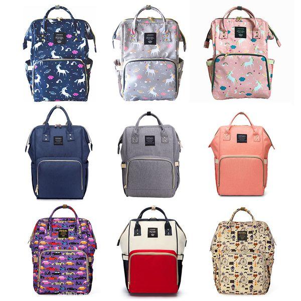 Многофункциональный пеленки рюкзак Единорог многоцветный ребенок мама меняется мешок Мумия рюкзак подгузник мать материнства рюкзаки Оксфорд ткань