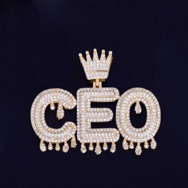 Обычай Имя Золото Серебро Rosegold Корона Под Залог Капельного Инициалы Пузырь Буквы