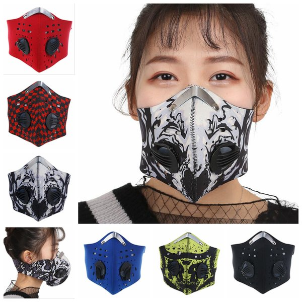 Anti Pollution Bicycle Mask Outdoor Sports Cycling Face Mask Filter For Bike Riding Traveling Cycling Masks OOA5044