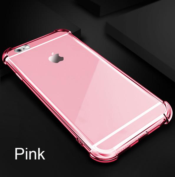 2018 Livraison gratuite pour iphone 6 cas Clear Rubber Soft TPU téléphone cas Airbag ShockProof couverture de téléphone Pour Iphone X Coque