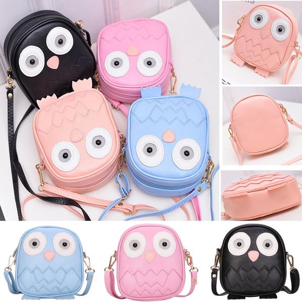 Mini Owl Purse Handbag Children Lady Messenger Bags For Crossbody Shoulder Bag With Belt Strap Clutch Purses Storage Bag Xmas Gift WX9-935