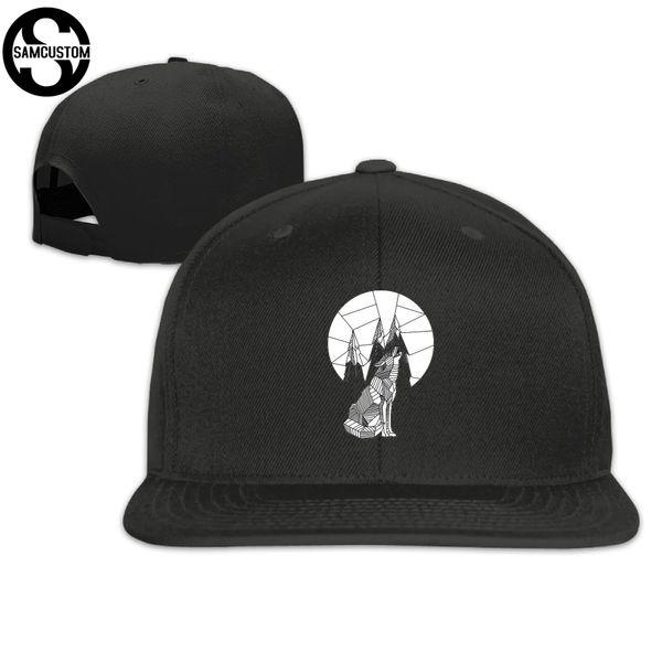 SAMCUSTOM cap baseball cap Side 3D printing Wolf eats the moon Casual gorras hip hop snapback hats wash unisex