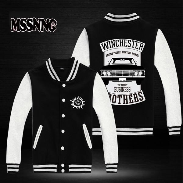 USA Größe neue Mode MSSNNG Kleidung Baseball Jacke Winchester Brüder übernatürliche Design Männer Sweatshirt Varsity Jacken
