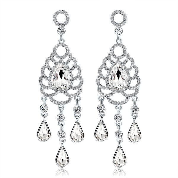 2018 Bridal Jewelry Crystal Earrings Stud Rhinestones Prom Party Earrings Wedding Jewelry Accessories for Women BW-220