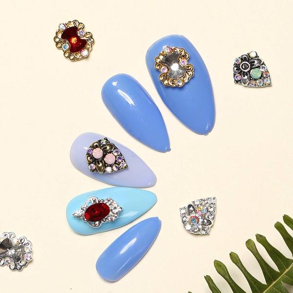 Modelones Pack Acrylic Glitter Powder Nail Rhinestone Decoration Mix Color Silver Color Nail Studs Rivets Diamond Sequins Acrylic Nail Tips Acrylic