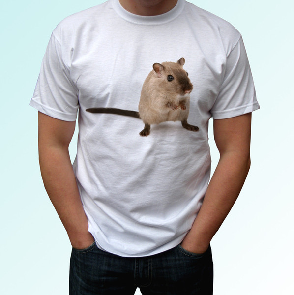 Gerbil white t shirt animal tee desert rat top White Tees T-Shirt Clothing Summer