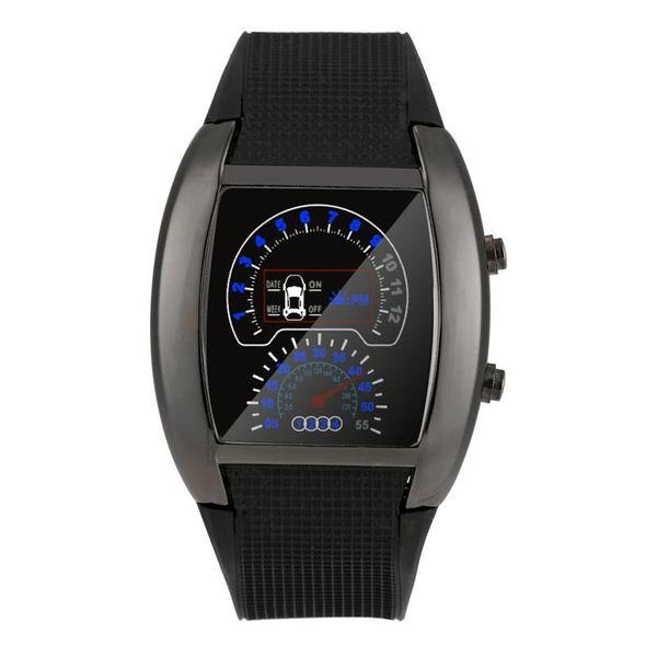 Xiniu Fashion uomo orologi Aviation Turbo Dial Flash LED Orologio Mens Sports Car Meter Orologi reloj hombre # 5M