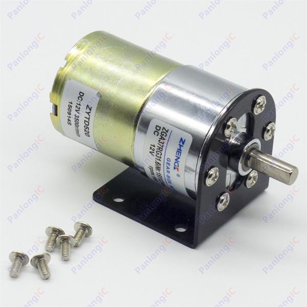 ZGA37RG 12V DC 100 RPM Motor de la caja de engranajes 1 / 34.5 Alto torque 3500r / min Reversible Motor + Motor Holder