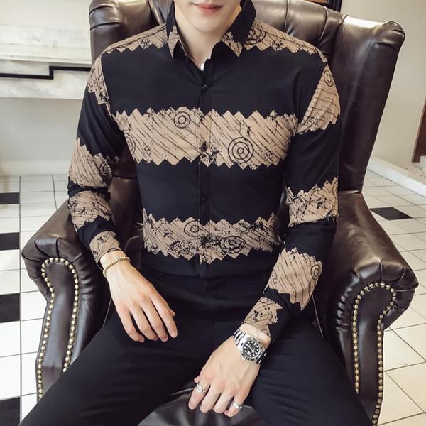 Type Version Correct Quality Good Autumn And Winter Yuppie Gentleman New Pattern Shirt 213-1 614 P55