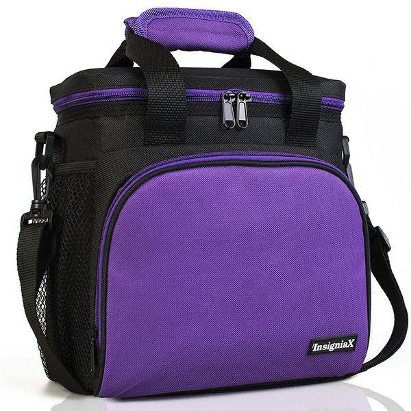 Aluminum Foil Insulation Thermal Lunch Bag Women Men Cooler Tote Handbags Warm Keeping Lunch Box Shoulder Bags