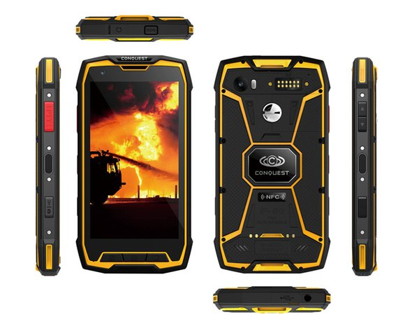 """IP68 Waterproof Explosion-proof Conquest S9 PRO Outdoor Rugged Phone 6000 mAh Battery 6G RAM 128G ROM 16MP 5.5"""" Smartphone android 7.1 Phone"""
