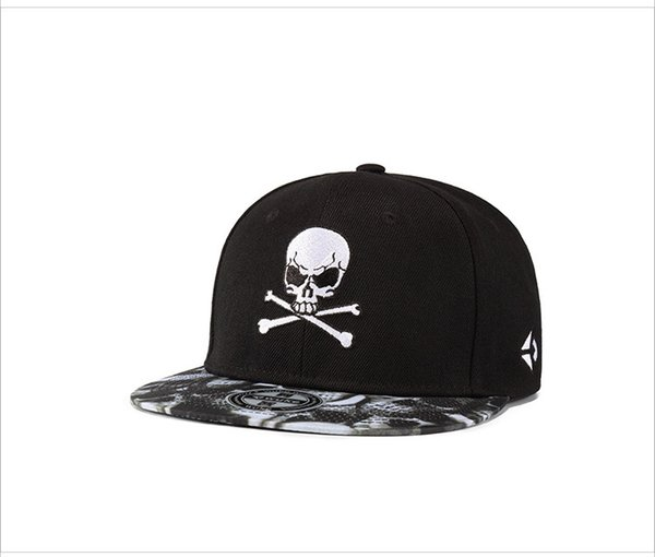 Skull Printed Casual Male Female Designer Hats Skateboard Unisex Hip Hop Hats Men Women Ball Caps Street Hat
