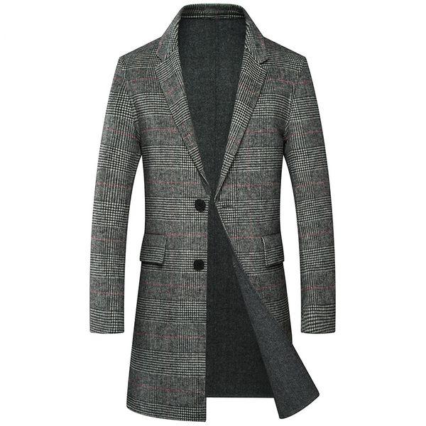 Herren 2018 Lange Casual Mäntel Cashmere Wolle Machen Von 3xl Business Großhandel Plaid Männer M Hand Jacke Winter Doppelseitige Mantel jRqLA354