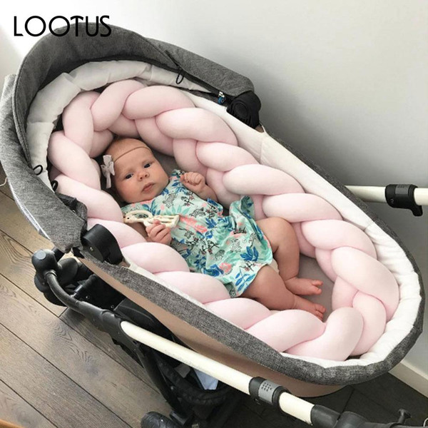 Baby Bumper Pillow Braid Pillow Pad Comfortable White/Gray/Blue/Pink PP Cotton Sofa Bedding Safety Pad
