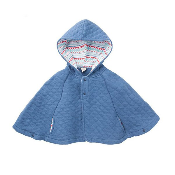 Baby Girl cape Jackets Winter Warm Outerwear Fashion Hooded Manteau Coats Infant cloak Clothing