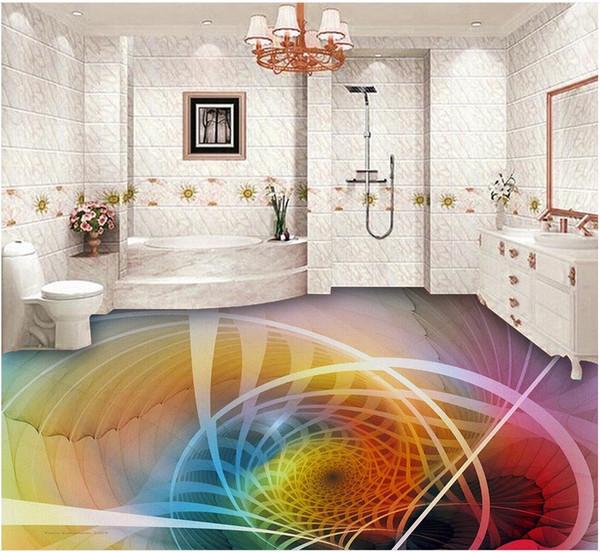Großhandel Foto Benutzerdefinierte Jede Größe Coole Geometrische Textur  Mode 3D Boden Malerei Tapete Für Badezimmer Wasserdicht Von Wallpaper1688,  ...