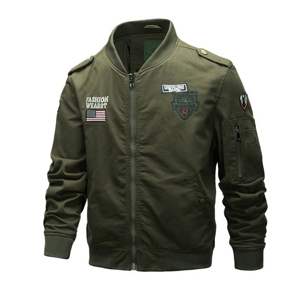 Air force one pilot's all-american military ma1 bomber commander jacket men's cotton washed leisure coat overalls designer windbreakers