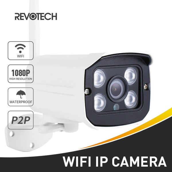 H.265 WIFI 1080P 2.0MP Outdoor IP Camera 4 Array LED Night Vision Waterproof Security CCTV Camera ONVIF w/ SD Card Slot