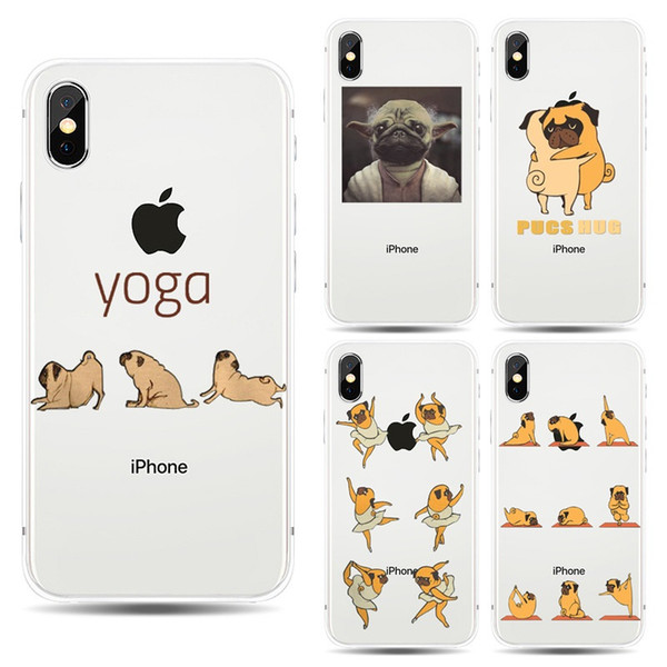 For iphone X Lovely Cartoon Painted dog Cases Ultrathin Silicone Back Protective Cover Shell For iphone 6S 7 8 Plus 5S Samsung S8 S9 Plus