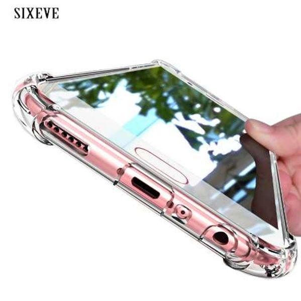 SIXEVE супер прозрачный чехол противоударный Силиконовый для Samsung Галактики С8 С9 плюс Примечание 8 крышка сотового телефона для Samsung С8 Samsung S8Plus
