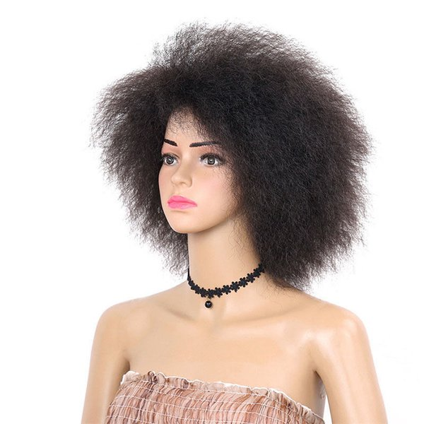 Synthetic Kinky Curly Afro Fluffy Hair Wigs Long Afro Black African American Wig