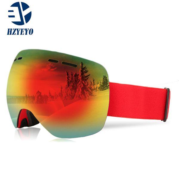 e04f5218c1c8 HZYEYO Ski Goggles Men Women Snowboard Goggles Glasses for Skiing UV400  Protection Snow Skiing Glasses Anti-fog Ski Mask