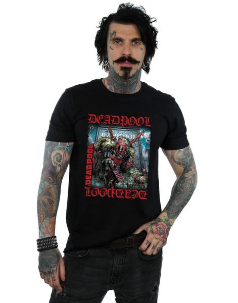 Marvel мужская Дэдпул Здесь лежит Дэдпул футболка