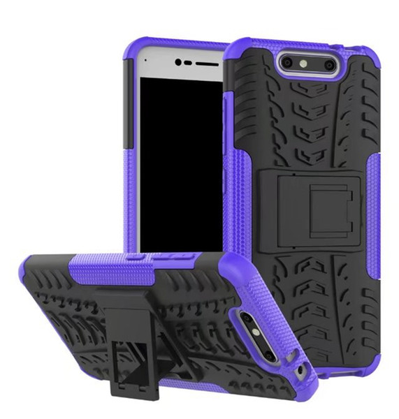 For ZTE blade v8 Rugged Hybrid Armor Heavy Duty Hybrid TPU Stand Impact Plastic Case For ZTE BV080 Hard Shock Proof Cover
