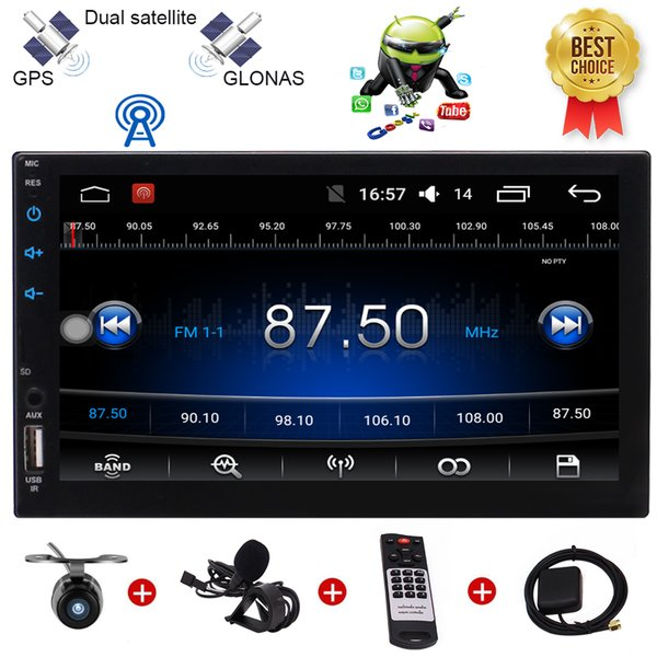 """Backup Camera Eincar Android 6.0 Marshmallow Car Stereo Radio 7"""" Digital Touch Screen Double 2 Din Head Unit Steering Wheel Control Bluetoot"""