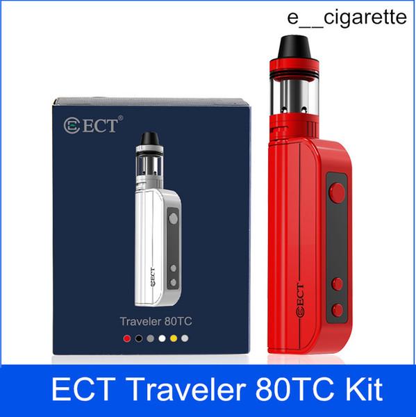 ECT Gezgin 80TC kiti e sigara kutusu mod vape mod yaktı mini atomizer 2.0 ml buharlaştırıcı 2200 mah elektronik sigara başlangıç kitleri
