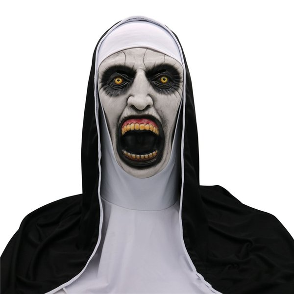 Scary Movie The Nun 2 Mask Cosplay The Conjuring Valak Mask Horror Halloween Costume Ball Party Coser Props