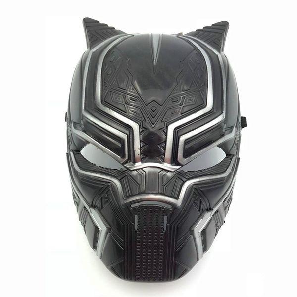 Captain America 3 Black Panther Maske 2018 New Avengers Kinder Erwachsene Halloween Party Cosplay Kunststoff Kopfbedeckungen Masken Spielzeug B001