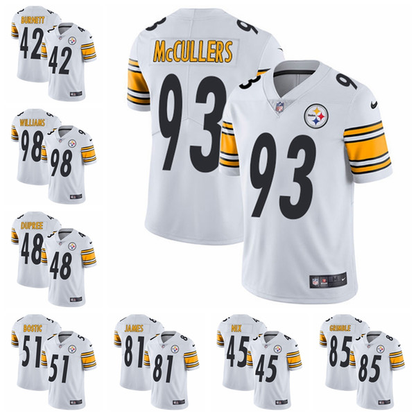 sports shoes b6b6f c9c17 2019 Pittsburgh White Vapor Untouchable Steelers 26 Bell Jersey 84 Antonio  Brown 90 T.J. Watt Limited Road Football Jersey From Topjerseys06, $25.39 |  ...