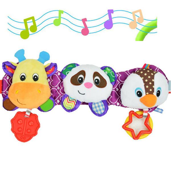 SOZZY Melodi Müzik Işık Bebek Oyuncakları Ses Çıngıraklar Çocuk Asılı Strollers Araba Halka Geyik Panda Penguen Yatak Koltuk Dişlikleri Oyuncaklar