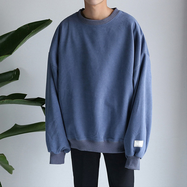 Mode solide hoodies sweatshirt 2018 Design Blau Männer und frauen Langarm Hip Hop Hoodies zu Streetwear Harajuku kleidung T6