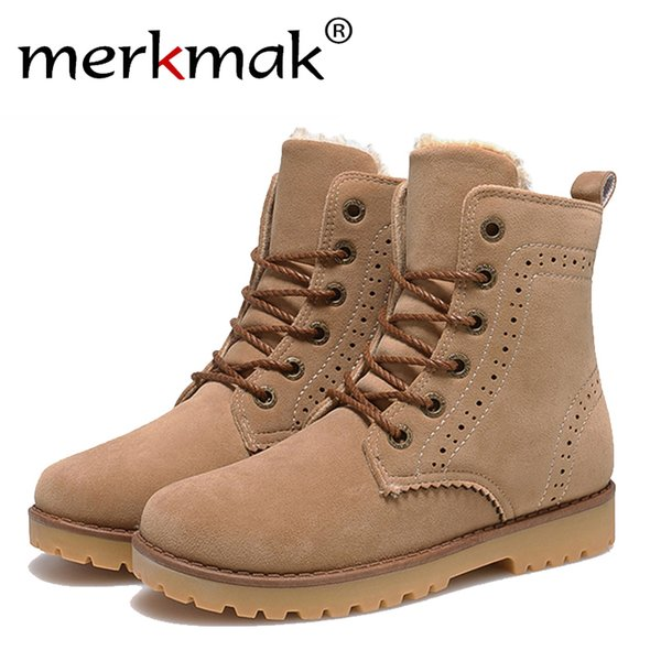 Wholesale- fashion winter shoes women's suede boots for men ladies snow boot botines mujer chaussure femme warm ankle boots with fur