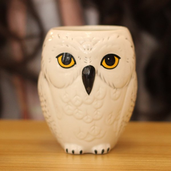 Porselen Çevre Dostu Ücretsiz Kargo Hedwig Baykuş Kupa Seramik Kupa Kahve Fincanı 2017 Yeni Gelmesi Sevimli Sınırlı Koleksiyon