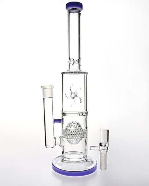 Designer glass bong water pipes tartar filter windmill turn unique water tobacco ashtray glass pipes smoking joint 14.5mm Cheap