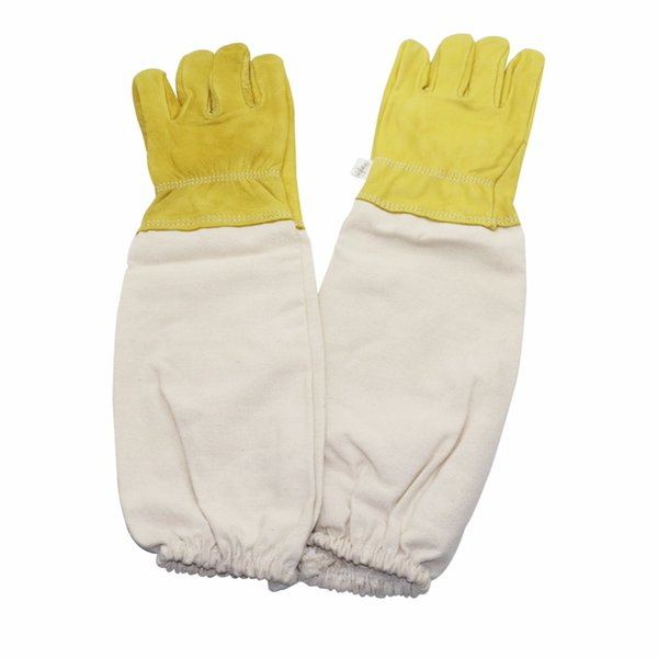 1pair Wholesale bee equipment Quality protective gloves Insectary gloves Outdoor beekeeping Power cut honey knife 47 cm