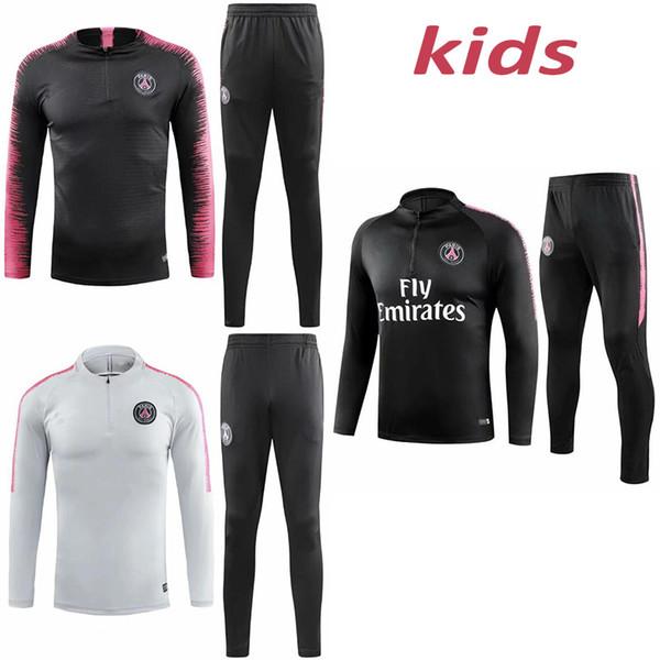 Nova Paris treino 2018-2019 crianças Psg futebol jogging jaqueta MBAPPE POGBA 18/19 treino de futebol das crianças terno survêtement