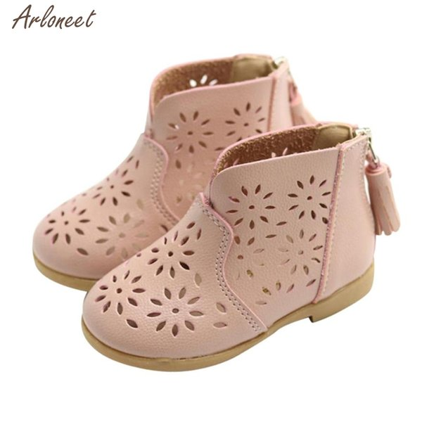 2018 toddler girls summer shoes PU Flower shoes baby girl Sandals Fashion Big Flower Girls Flat Pricness JAN8