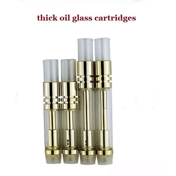 100% Sem Vazamento Dupla bobina cartucho de vidro de ouro 510 fio Toque BUD Atomizador de vidro WAX Vaporizadores tanque de óleo de co2 Espessura do tanque Aberto-02