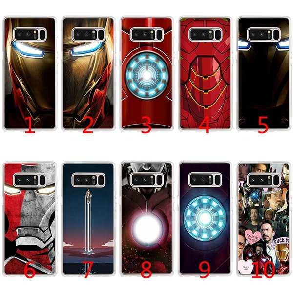 timeless design 6fe48 06ef1 Iron Man Superheroes Soft Silicone TPU Case For Samsung S7 Edge S8 Plus S9  Plus Note 9 8 Cover Phone Cover Customized Phone Cases From Emmall, $1.58|  ...