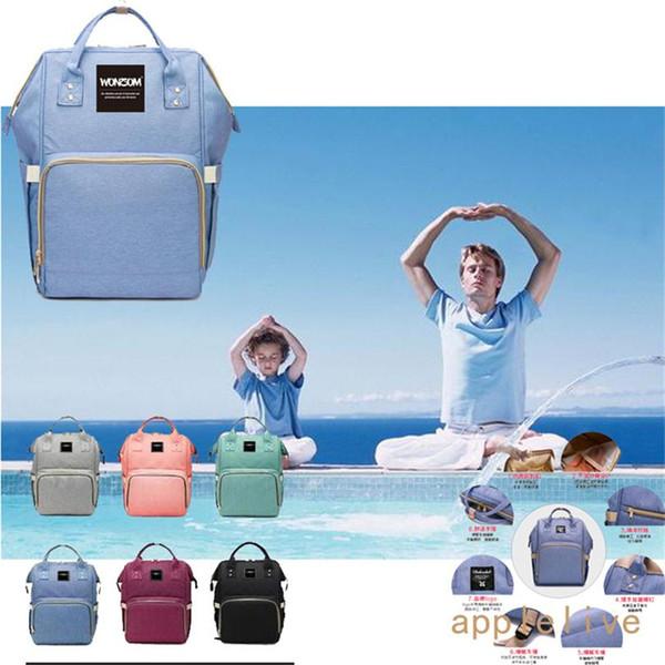 Оптовая мама пеленки сумка рюкзак большой емкости материнства подгузник сумка для мамы папа путешествия кормящих ребенка многофункциональный водонепроницаемый сумки