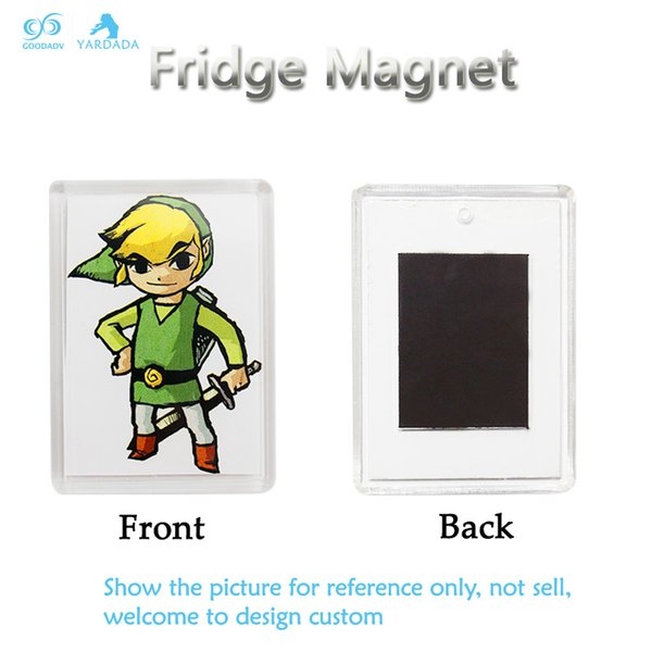 Custom printed magnetic photo frame acrylic fridge magnet decor refrigerator sticker with your own picture insert
