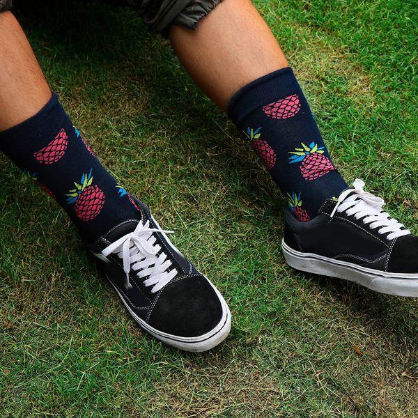 Unisex Soft Breathable Socks Fruit Painting Art Funny Pattern Sock Popular Fashion Vintage Women Mens Skateboard Hosiery