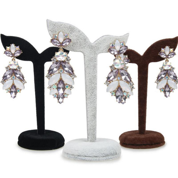 Stud Earring Jewelry Display Rack Stand Organizer brooches Ornament Holder Hook Hanger Counter Case showcase velvet tree shaped