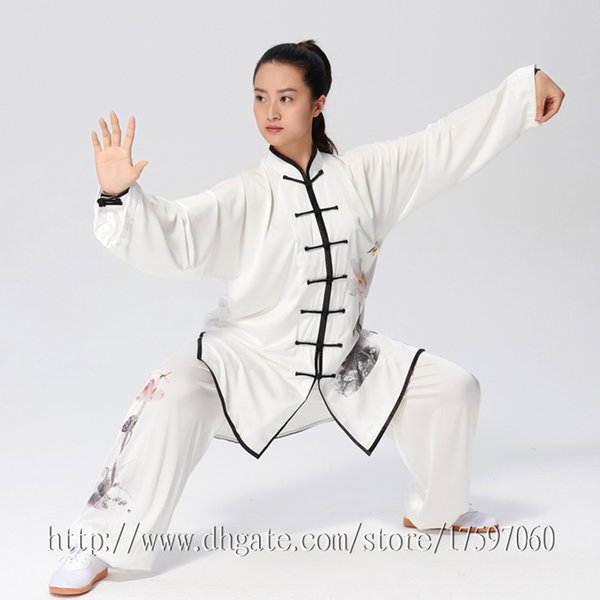 best selling Chinese Tai chi clothes Kungfu uniform Taijiquan sword garment Qigong outfit Printed Apparel for women men girl boy children adults kids