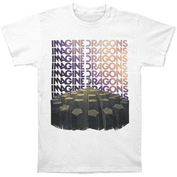 Imagine Dragons Men's Repeat T-shirt White Men Clothing Plus Size S M L Xl Xxl Xxxl Cool Short Sleeve Men T Shirt